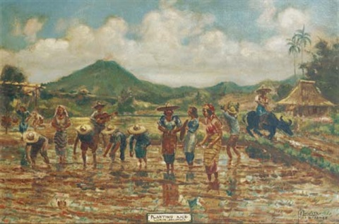 planting rice, luzon by j.e. acosta