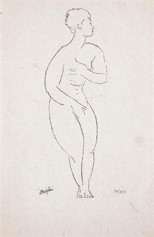 la nymphe by amedeo modigliani