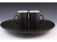 charger and mugs (3 works) by rupert spira