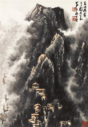 春山雨霁 by li keran