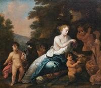 diana amongst satires by bernardus van schendel