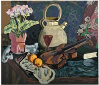 still life with violin by james lesesne wells