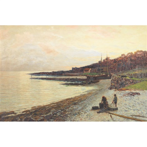 the village of corrie arran evening by john miller