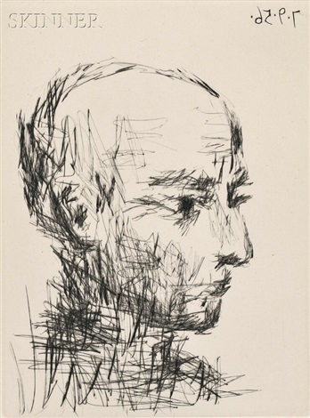 portrait of max jacob from chronique des temps héroïques by pablo picasso