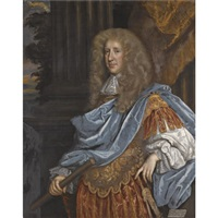 portrait of robert bruce, 1st earl of ailesbury and 2nd earl of elgin, wearing roman armour by henri gascars