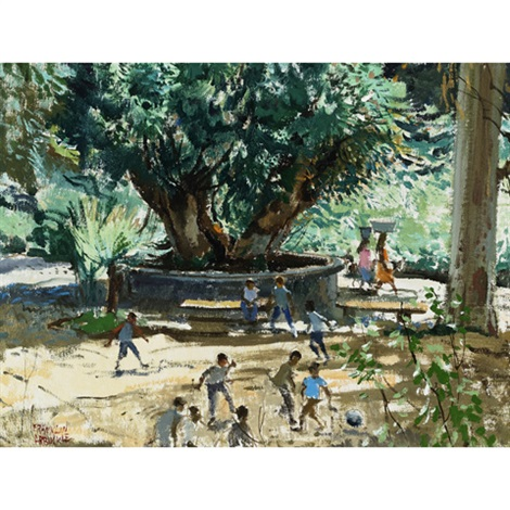 football in the park cuernavaca mexico by george franklin arbuckle