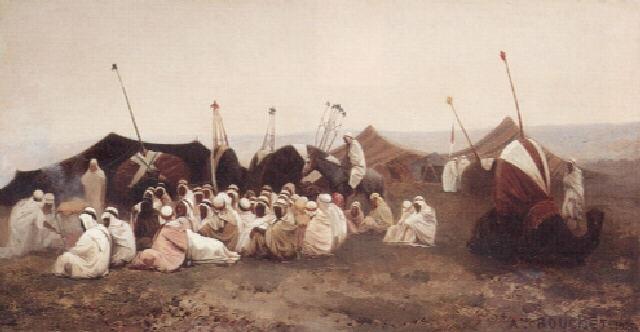 assemblée de caïds la veille dun mariage by auguste bouchet