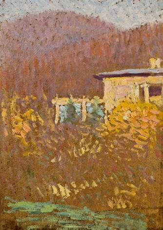 otto wagner-villa in wien-hütteldorf (detail) by rudolf junk