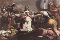 the martyrdom of saint ursula by alessandro tiarini