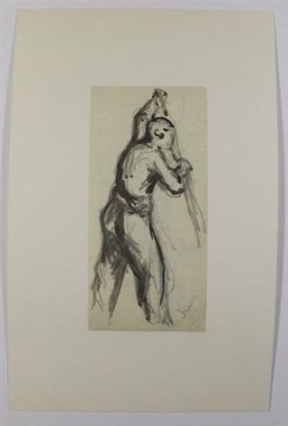 studies of men 4 works various sizes by maximilien luce