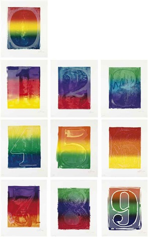 color numeral series set of 10 by jasper johns