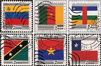 集邮 (六幅) (philately) (set of 6) by ren jian