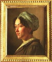 portrait d'une jeune femme des iles by jean-jacques-françois monanteuil