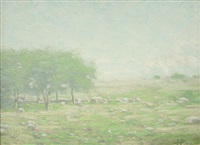 ohne titel (landschaft bei shippensburg) by holmead (clifford holmead phillips)