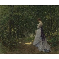 a woodland stroll by ferdinand heilbuth