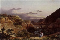 views of petra by leon-emmanuel-joseph-simon laborde