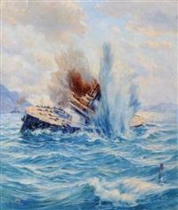ship on storm by bahriyeli ismail hakki