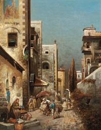 italienische straßenansicht by j. h. rogan