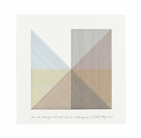 four color drawing with each color in a half square by sol lewitt