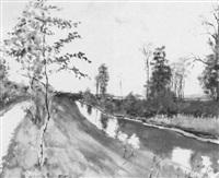 isarkanal bei landshut by rudolf böttger