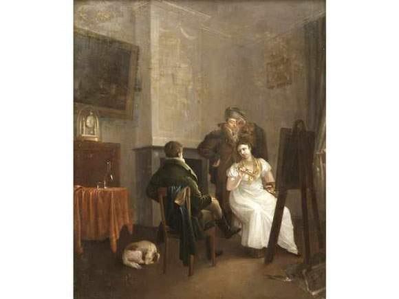 femme peintre dans son atelier by ezechiel davidson