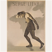 portrait de serge lifar pour représentation des ballets russes, théâtre des champs-elysées by teddy piaz