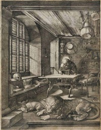 saint jerome in his study by albrecht dürer