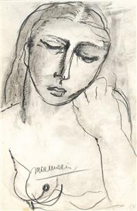 femme au sein nu by paul delvaux