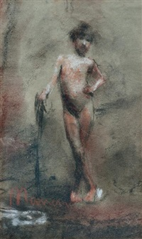 desnudo by antonio mancini