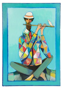 harlequin flutist by david pryor adickes