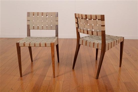 model 666 wsp chairs pair by jens risom
