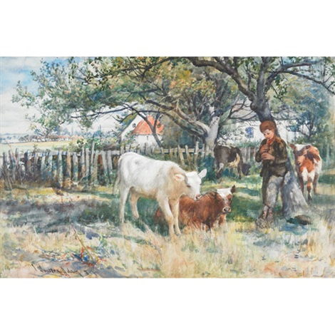 piper boy calming the calves by joseph denovan adam