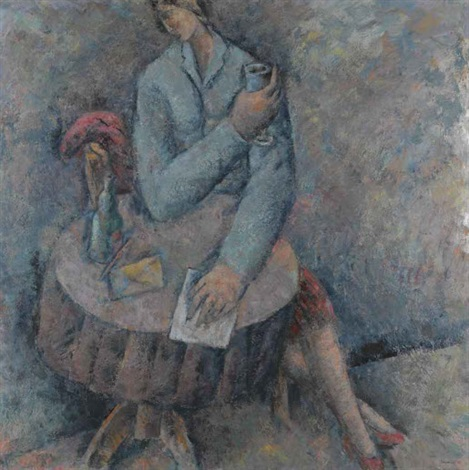seated figure by pavlos samios