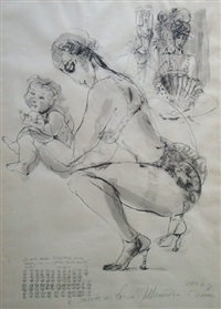 a woman with a child by ieva markevica-caruka