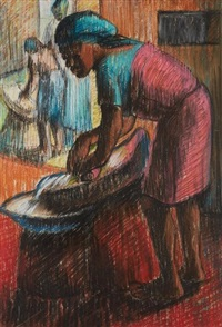 grinding the corn by kofi antubam