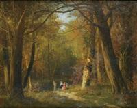 promeneurs dans un sous-bois by nicolas rousseau