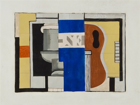 lencrier from the ten reproductions portfolio by fernand léger
