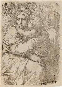 die heilige familie by domenico peruzzini