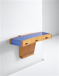 rare wall-mounted console by osvaldo borsani