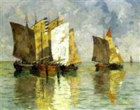 fischerboote by hans figura