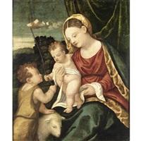 madonna col bambino e san giovannino by girolamo da santacroce