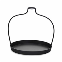 thin black lines (610mm vase) by nendo