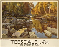 teesdale by l.n.e.r. by ernest william haslehurst