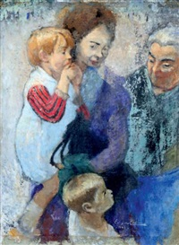 trois générations: femmes et enfants by edgar chahine