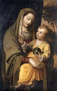 virgen con el niño by scipione pulzone