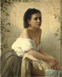 la jeune blanchisseuse by jules emile saintin