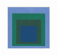 study for homage to the square: cloudless by josef albers