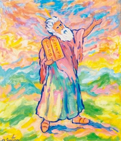 moïse tenant les tables de la loi by nathan gutman