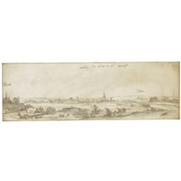 a view of hannuyt by jan peeters the elder