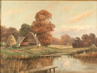 autumn afternoon by josef krotter
